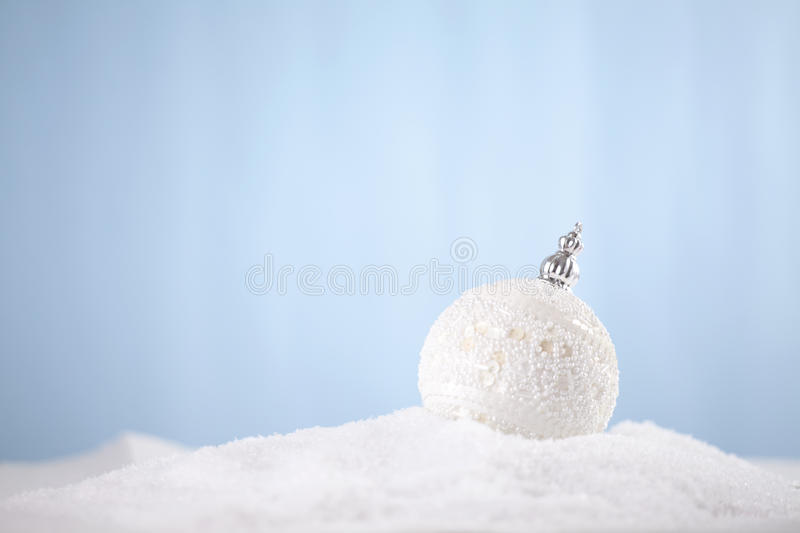 Christmas decoration. Siting in snow stock photo