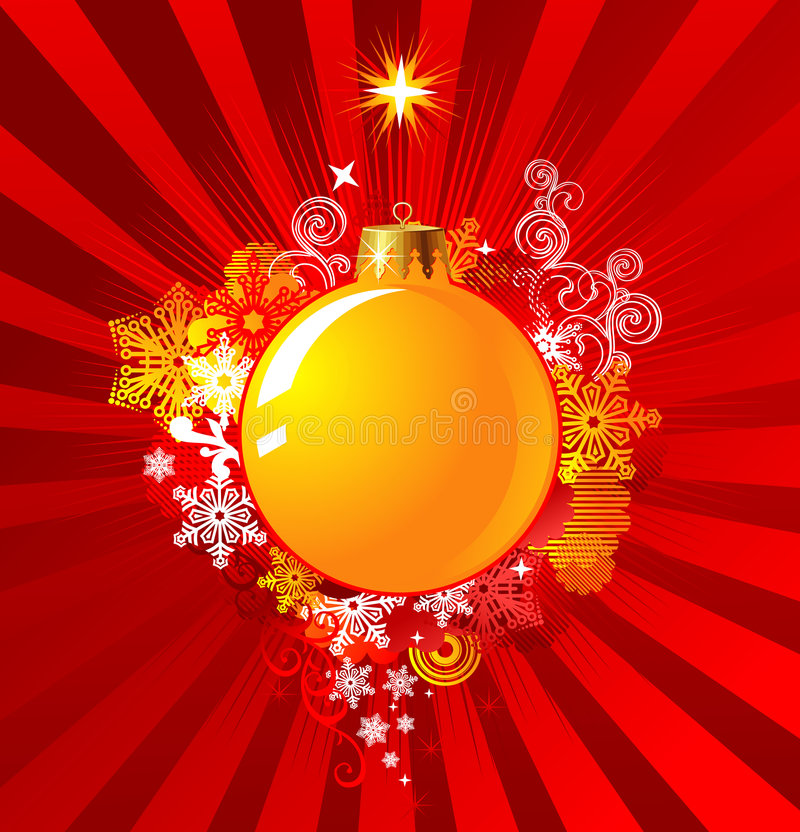 Christmas Decoration / Background Concept / vector stock illustration