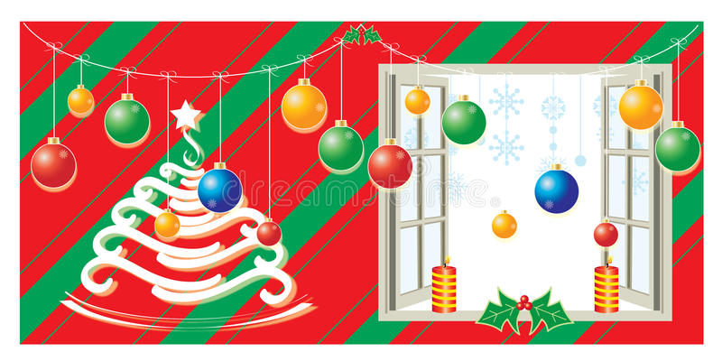 Christmas decoration with and background royalty free stock images