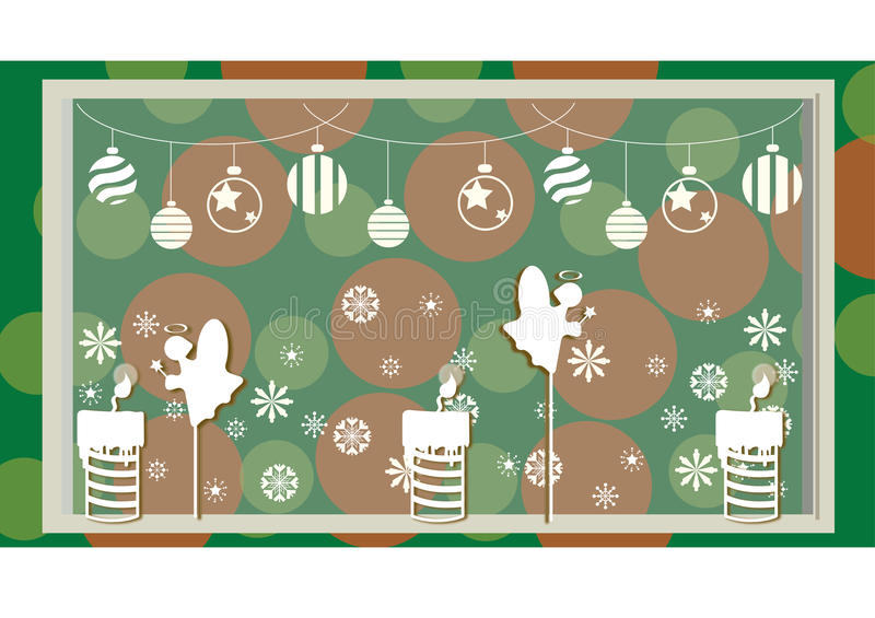 Christmas decoration with and background stock photos