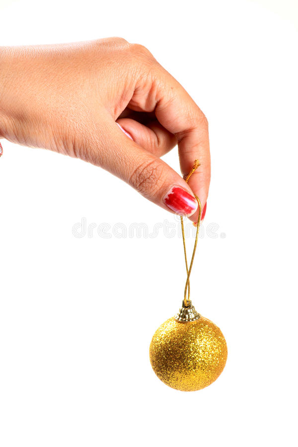 Download Christmas decoration ball stock photo. Image of hand - 28107168