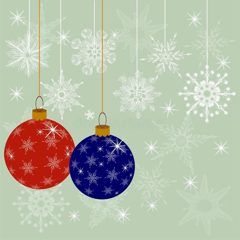 Christmas Decoration Ball In Vector Stock Image