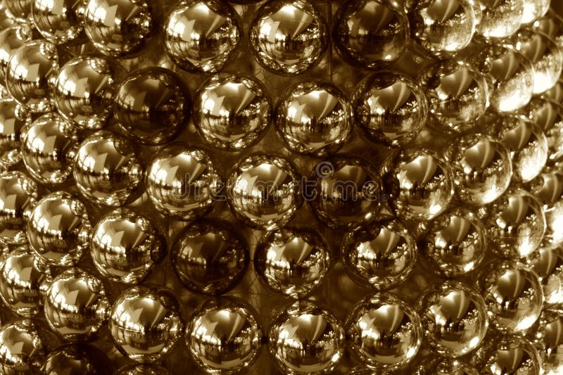 Christmas decoration balls sepia coloured stock photograph. The beautiful Christmas festival decoration balls in sepia coloured unique stock photograph royalty free stock images