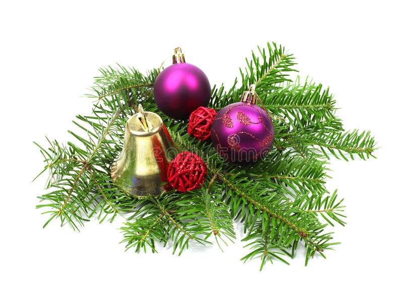 Download Christmas Decoration With Bell And Ball Stock Photo - Image: 27528812