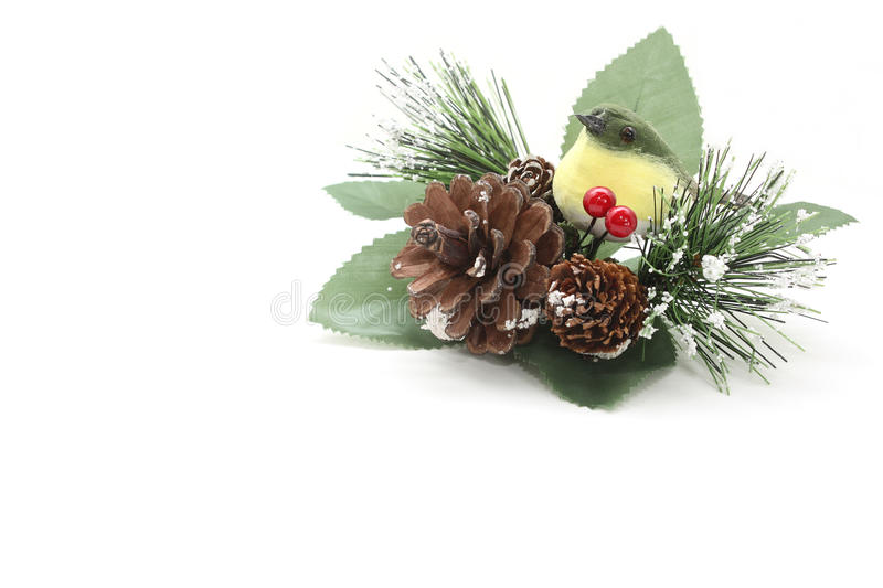 Christmas decoration with a bird royalty free stock images