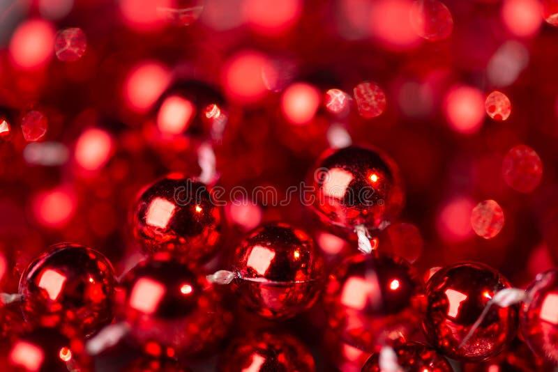 Christmas decoration with bokeh lights stock photo