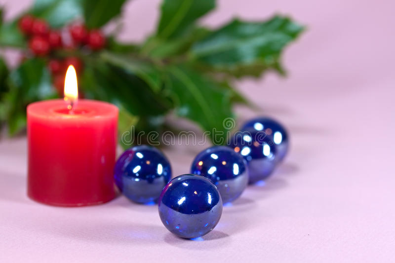 Download Christmas Decoration With Candle Light,holly Stock Photography - Image: 11172612