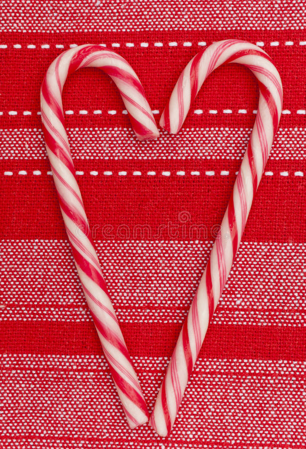 Christmas Decoration Candy Canes Heart Shape Royalty Free