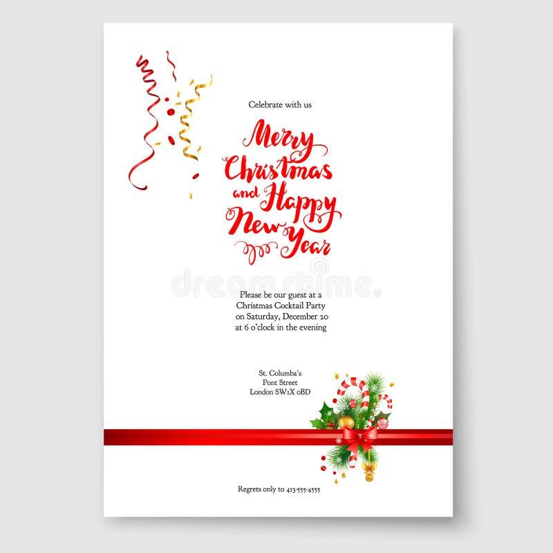 Christmas decoration card royalty free illustration