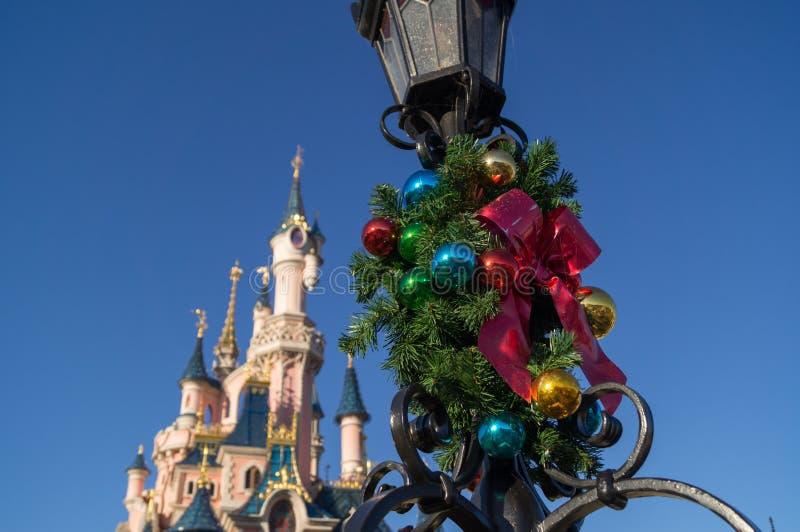 christmas decoration chrismas front cinderella castle disneyland paris 63512510