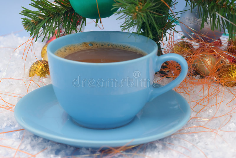 Christmas decoration- coffee brown royalty free stock photo