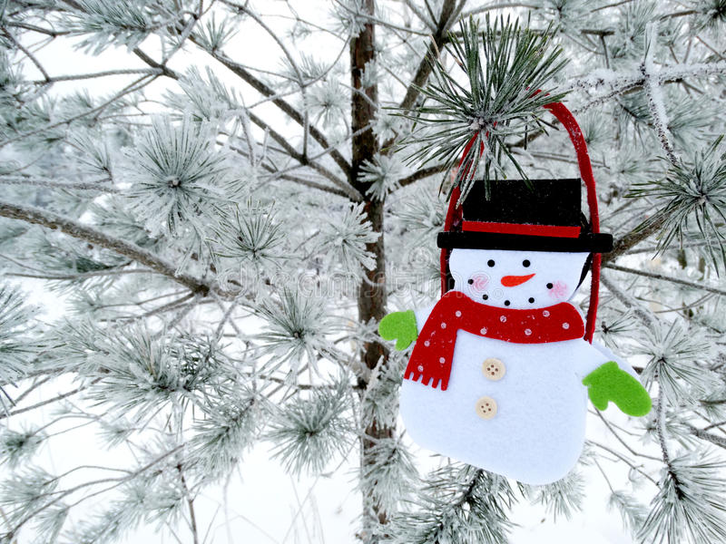Download Christmas Decoration Composition On Fir Background Stock Photo - Image: 83707394