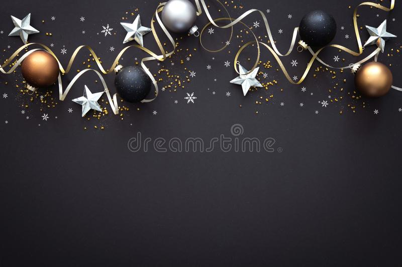 Christmas  decoration on dark background stock photography