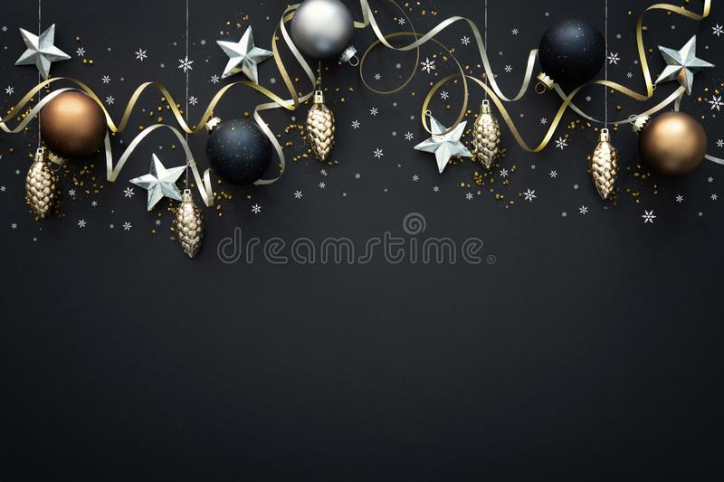 Christmas  decoration on dark background royalty free stock photography