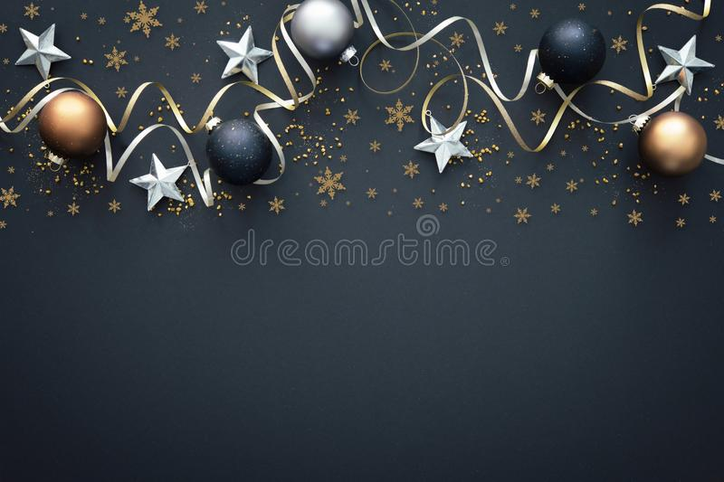 Christmas  decoration on dark background royalty free stock photo