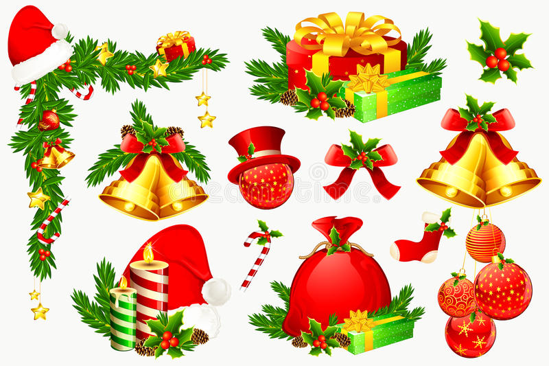 Christmas Decoration Element royalty free illustration