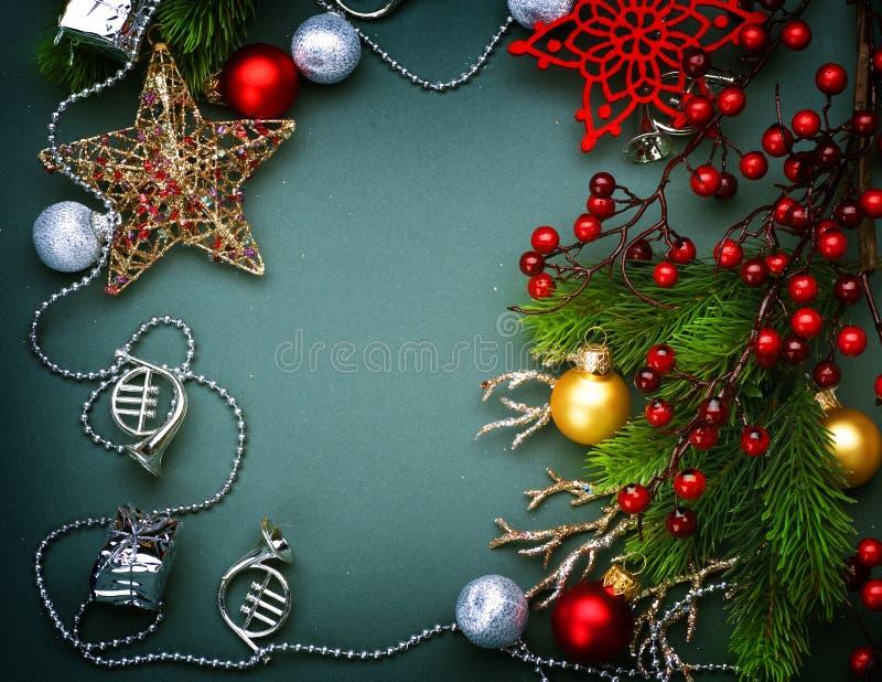 Christmas Decoration frame stock images