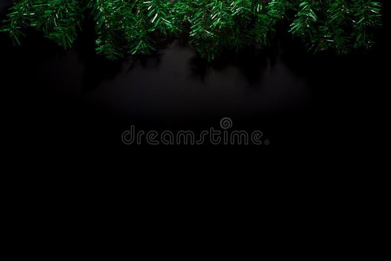 Christmas Decoration Frame on black background stock image