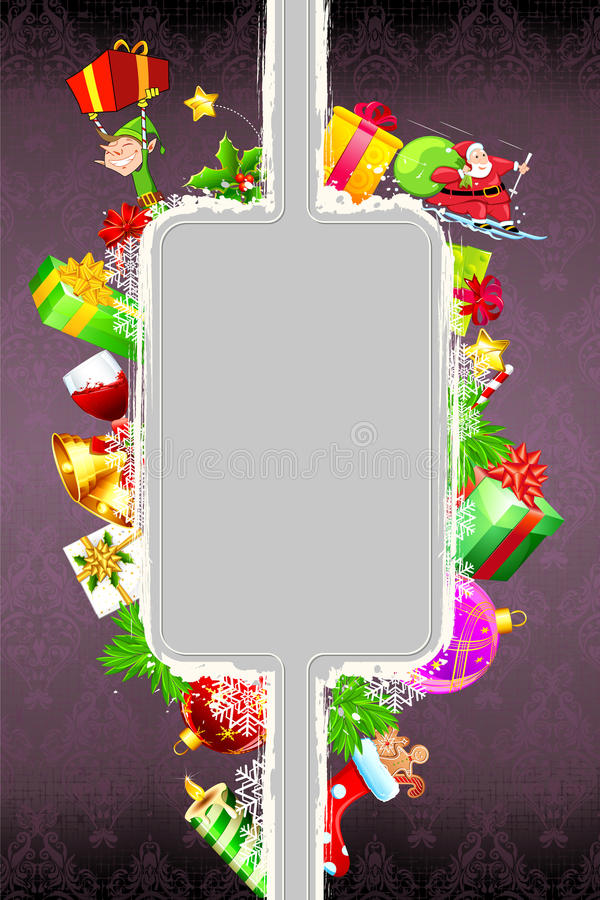 Christmas Decoration with Gift Box vector illustration