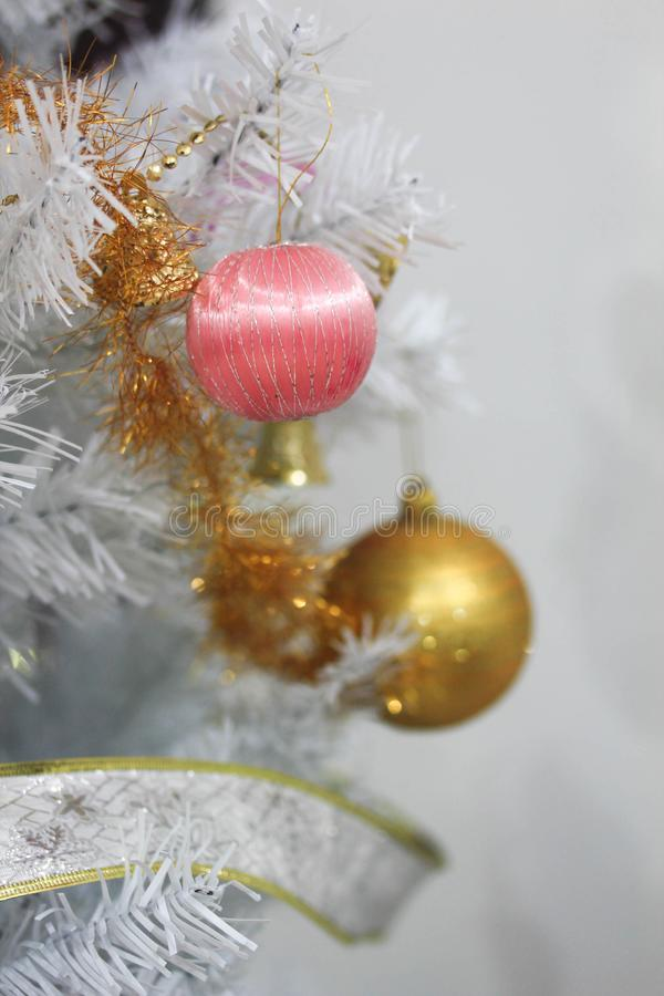 Christmas decoration on abstract background,vintage filter,soft focus. Christmas decoration for holidays on abstract background,close up, vintage filter,soft royalty free stock images