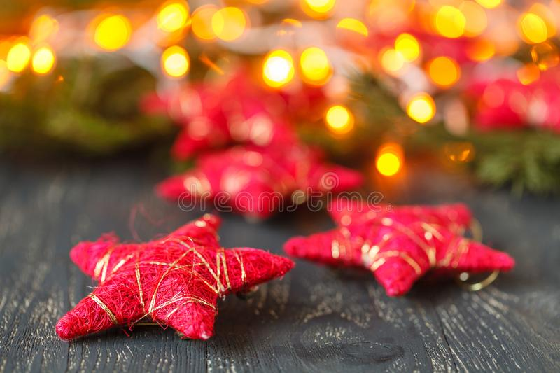 Christmas decoration and lighting royalty free stock photo