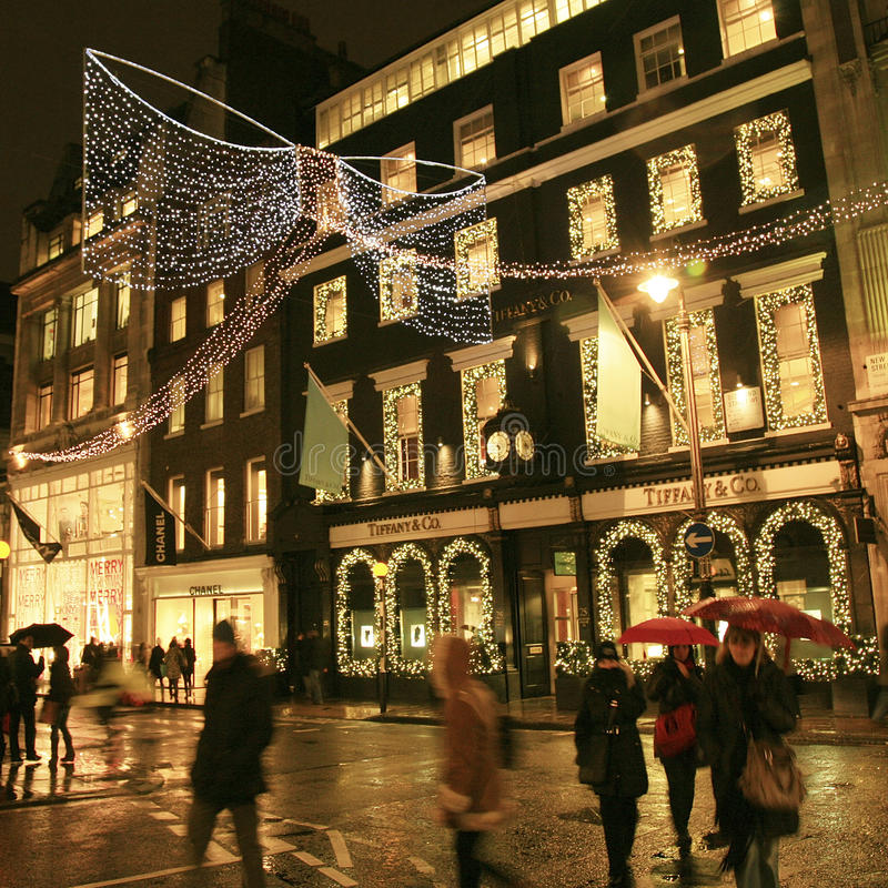 Christmas Decoration in London royalty free stock photos