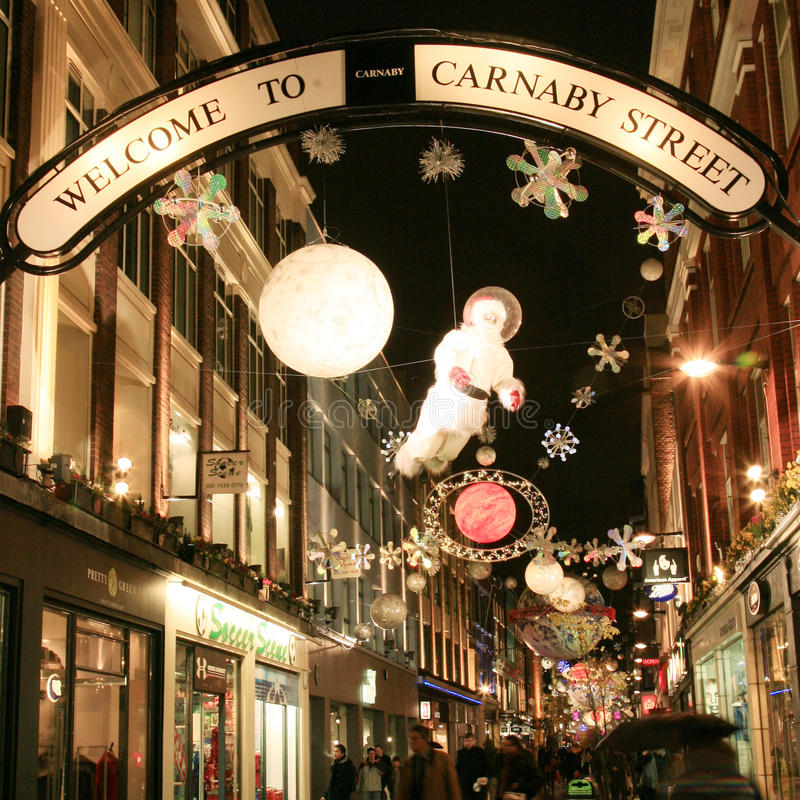 Christmas Decoration in London stock images