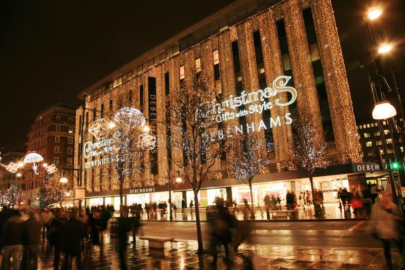 Christmas Decoration in London stock photos