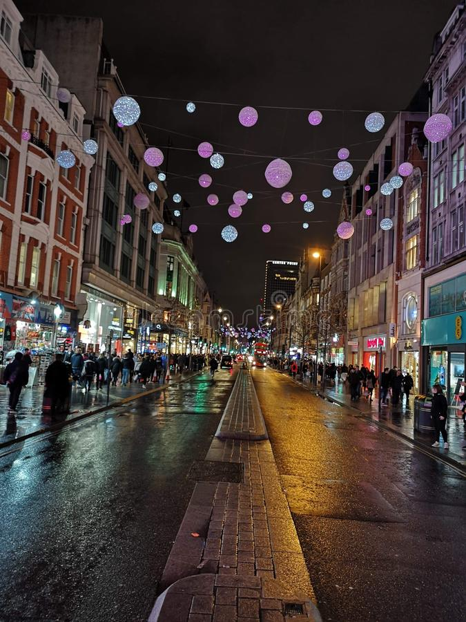 Christmas decoration in London, Uk stock photo