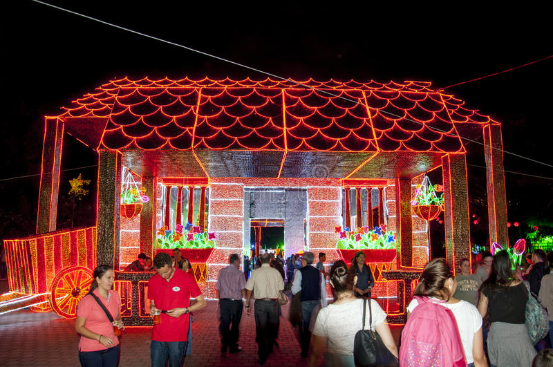 Download Christmas Decoration In Medellin Editorial Stock Image - Image: 83721889