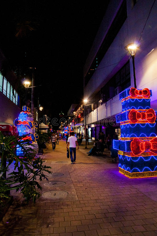 Download Christmas Decoration In Medellin Editorial Stock Image - Image: 83722014