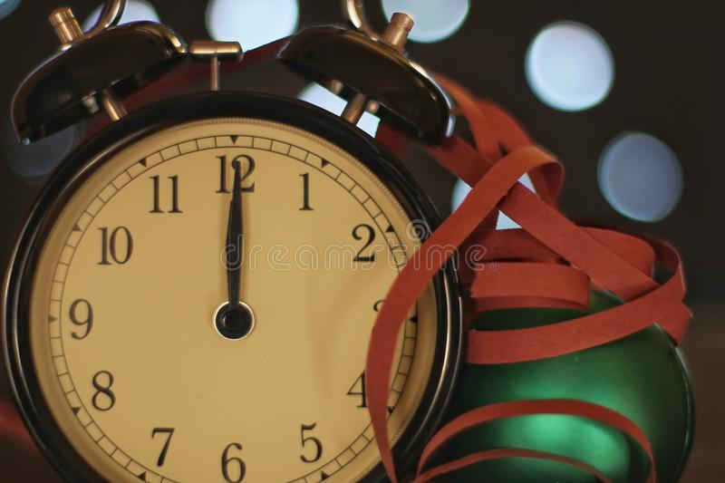 Christmas and new year`s eve celebration and countdown royalty free stock image