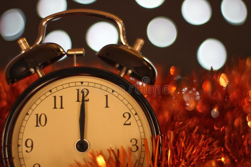 Christmas and new year's eve celebration and countdown royalty free stock photo