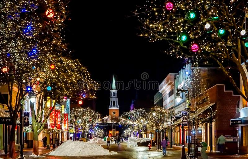 Christmas Decoration, Night, Town, Christmas Lights stock photos
