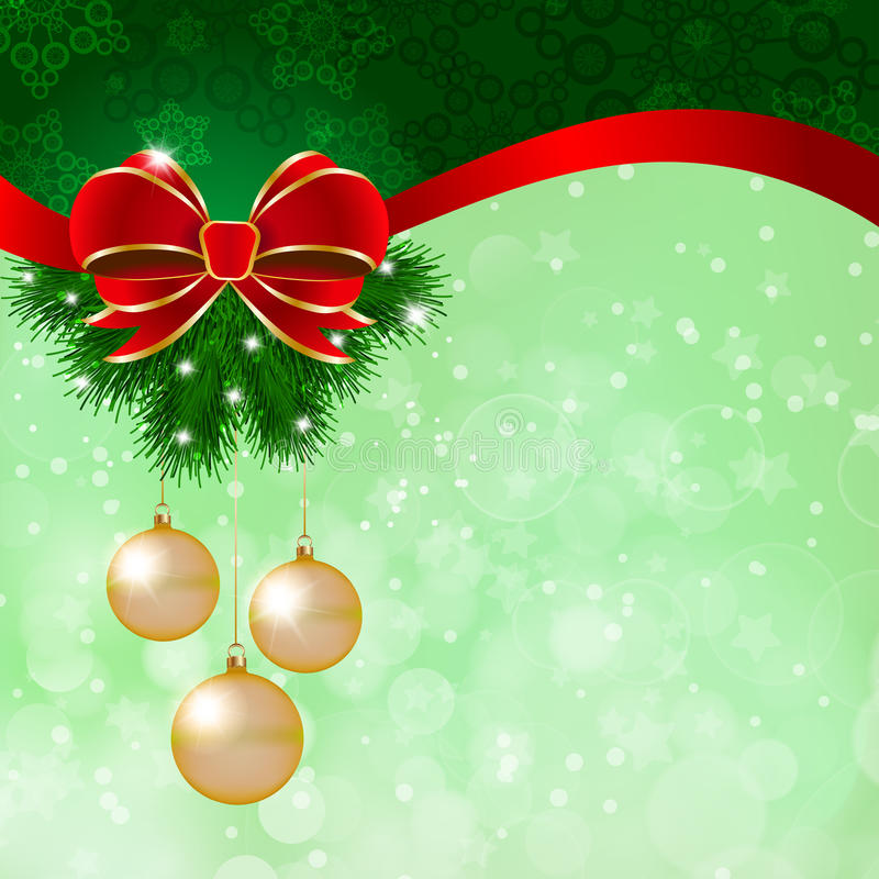 Free Christmas Decoration On Green Background Stock Photography - 27887412