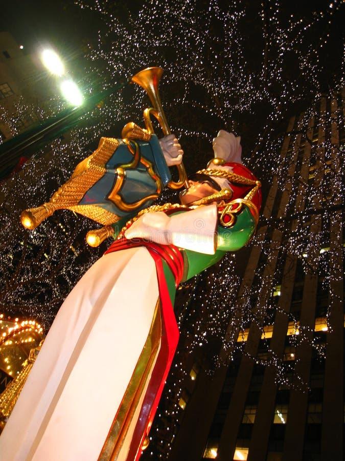 Christmas decoration outside Rockefeller Center royalty free stock photo
