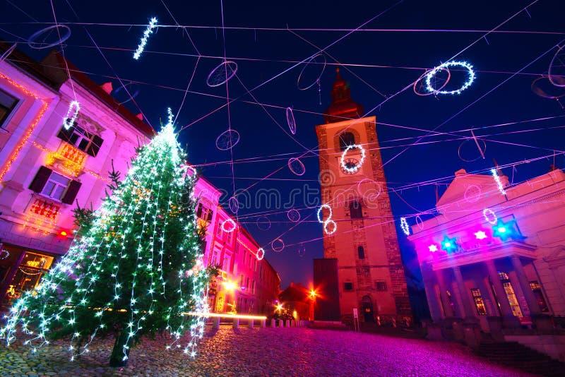 Christmas Decoration, Ptuj, Slovenia royalty free stock photos