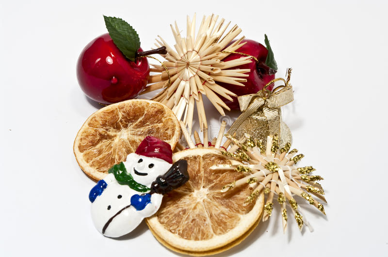 Christmas decoration in red and beige stock photos