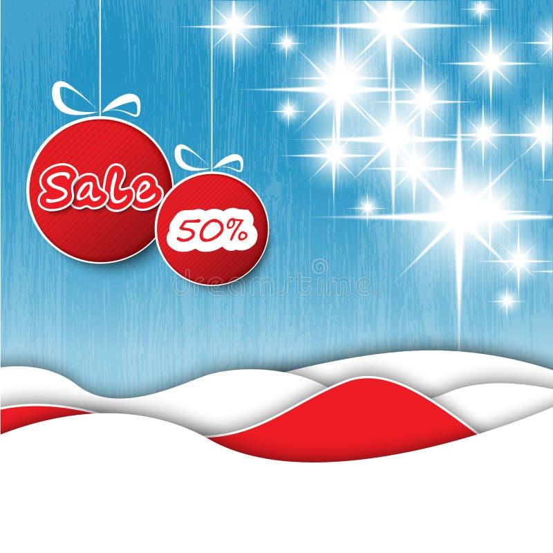 Christmas decoration sale tags stock illustration