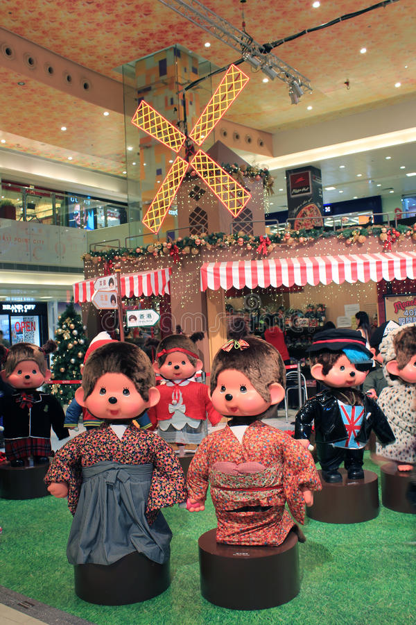 Christmas decoration in shopping mall. December 7, 2013 - Christmas decoration in East Point Shopping Mall, Tseung Kwan O, Hong Kong. Sharing the pleasure of its royalty free stock photos