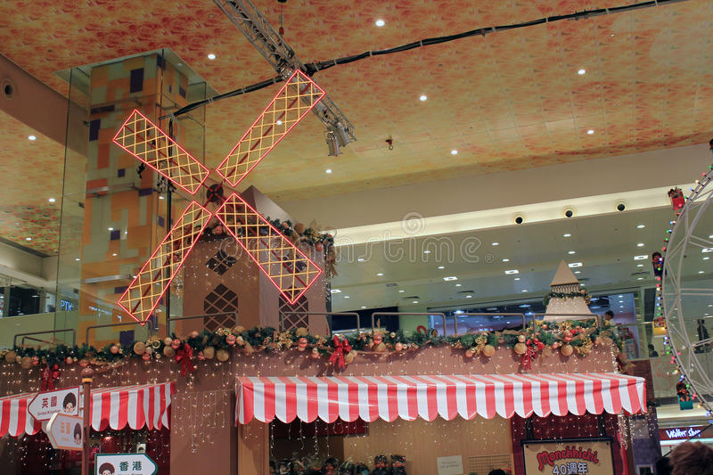 Christmas decoration in shopping mall