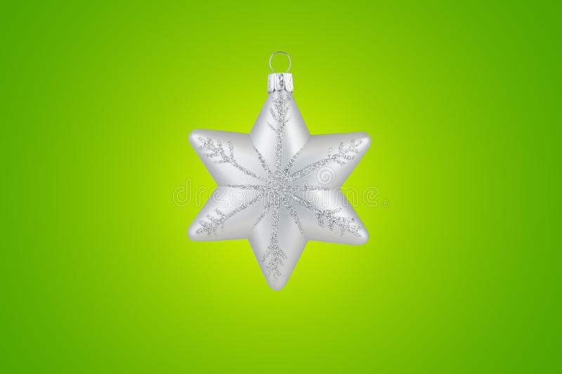 Download Christmas Decoration Silver Snowflake Stock Photo - Image: 12005708