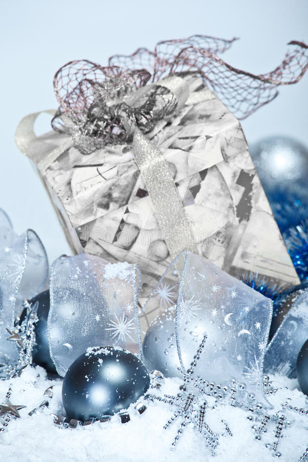 Christmas Decoration In Snow Royalty Free Stock Photography