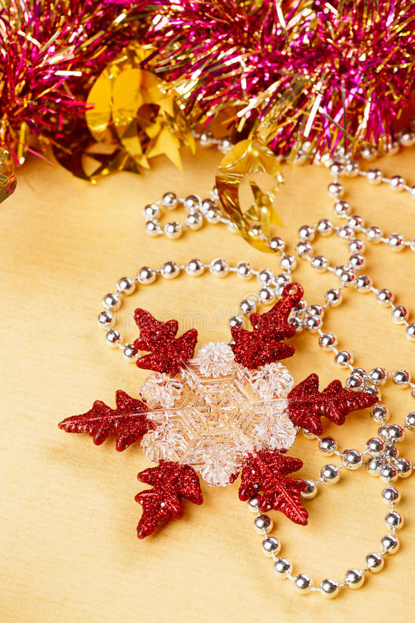 Download Christmas Decoration Snowflake And Beads Stock Photo - Image: 26640230