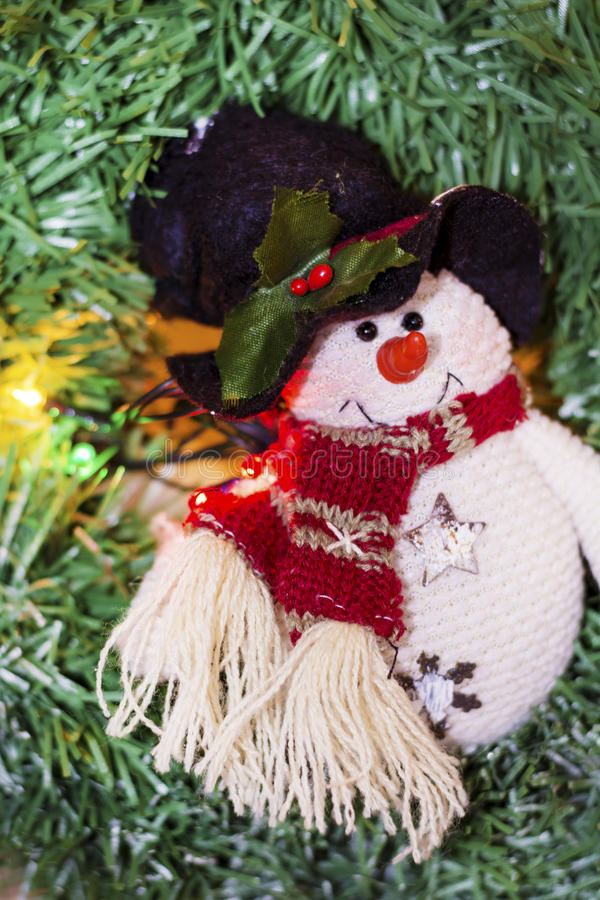 Christmas decoration with snowman royalty free stock image