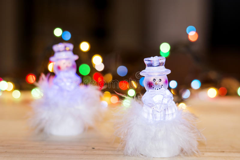 Christmas decoration with snowman toys royalty free stock photos