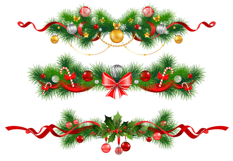 Christmas Decoration With  Spruce  Tree Stock Photography