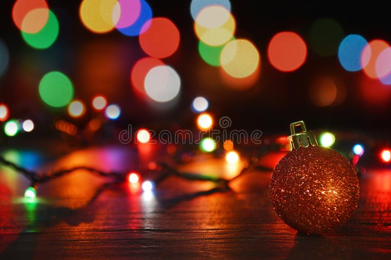 Christmas decoration tealight candles and christmas ornaments. Christmas decoration burning tealight candles and christmas ornaments royalty free stock photography