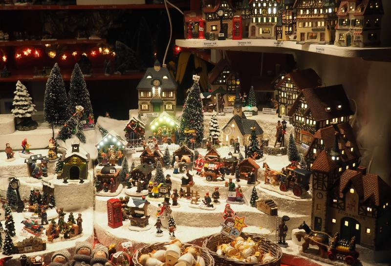 Christmas market of Mannheim, Germany. Christmas decoration and toys in the Christmas market of Mannheim, Germany. Mannheim is a city in the southwestern part of stock photos
