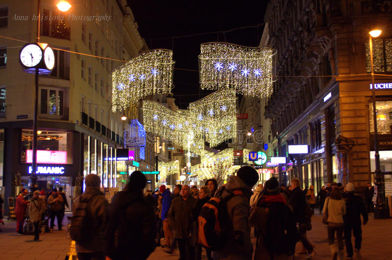 Download Christmas Decoration Vienna Austria Editorial Stock Photo   Image  Of Center, Buildings: 49432133